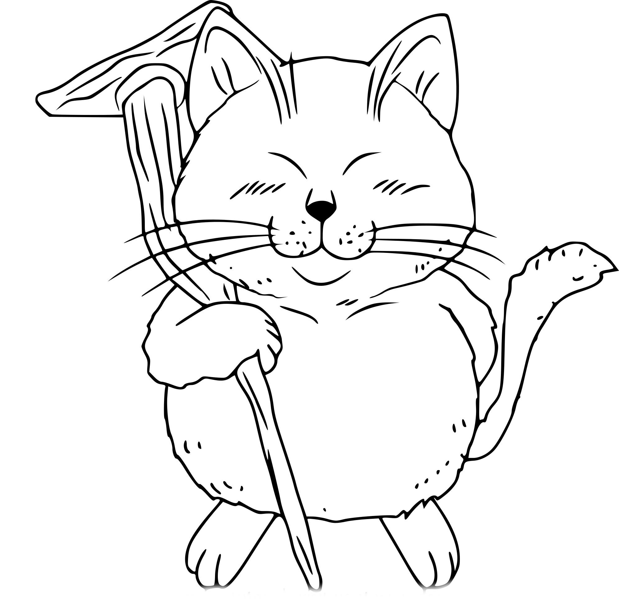 Coloriage Karin Dragon Ball Z à imprimer