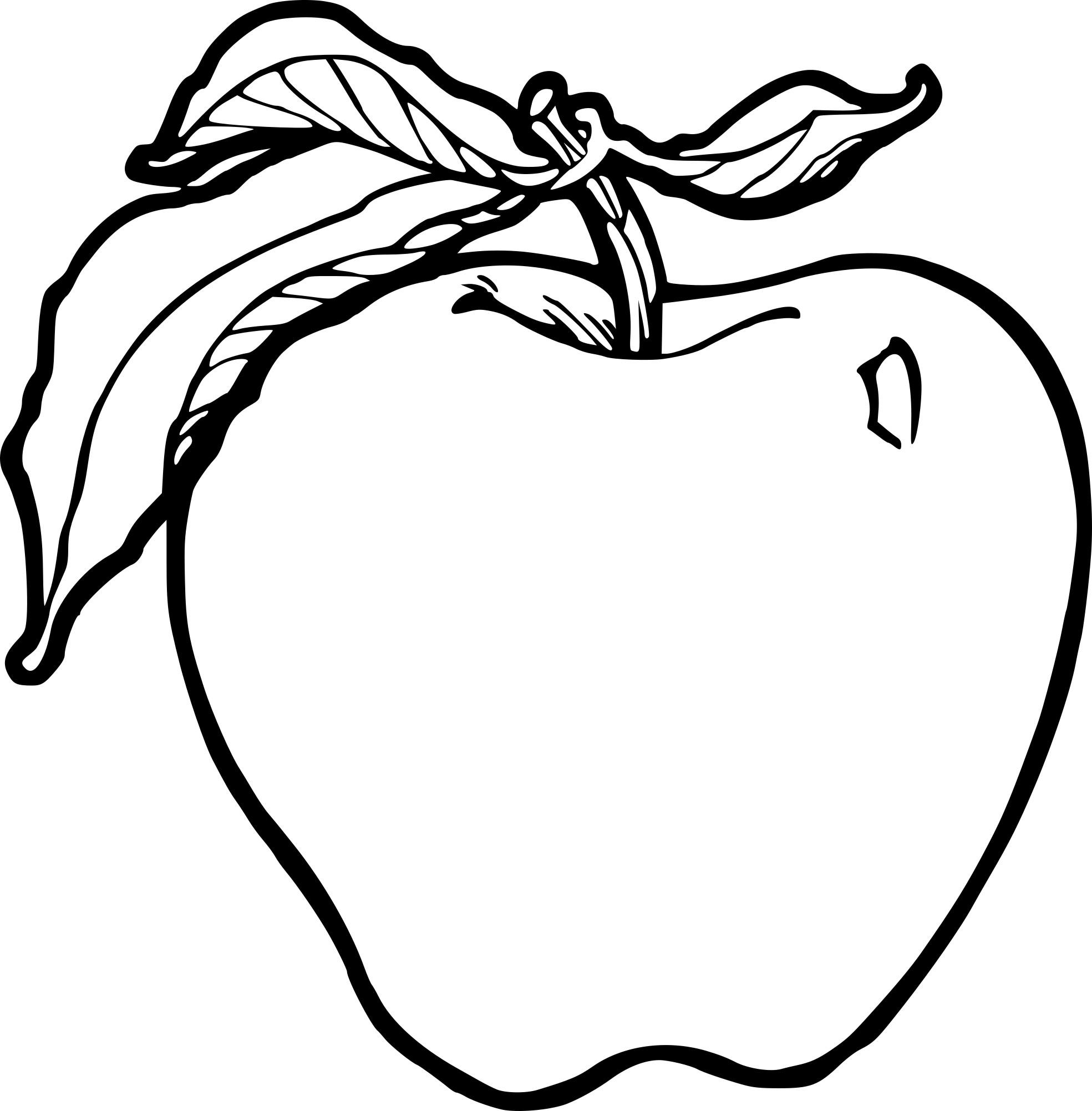 Coloriage la pomme imprimer - Dessin pomme apple ...