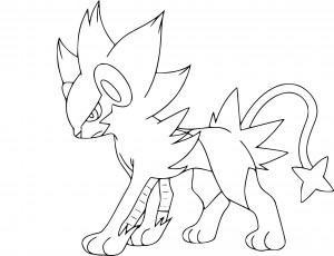 Coloriage Luxray