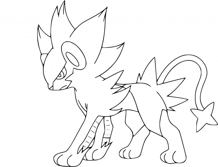 Coloriage Luxray Pokemon à imprimer