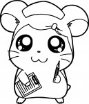Coloriage manga Hamtaro