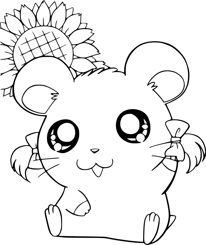 Coloriage Petit hamster Hamtaro