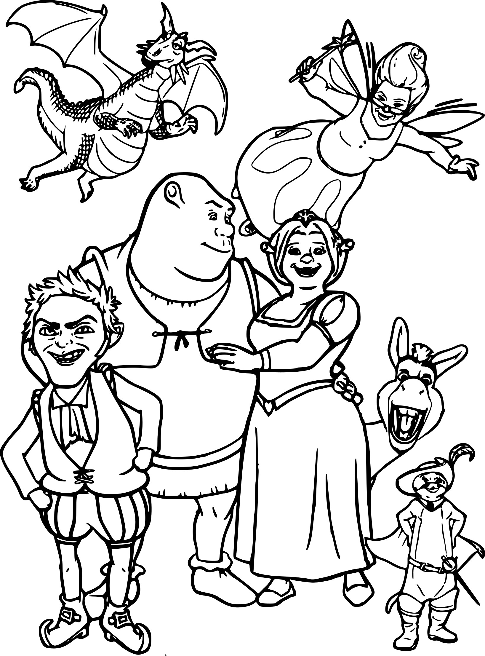 Coloriage Shrek