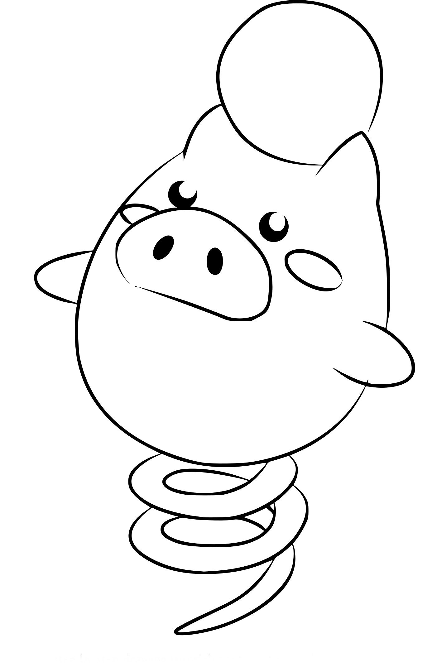 Coloriage Spoink