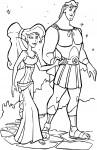 Megara Hercule coloriage