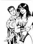 Superman et Wonder Woman coloriage