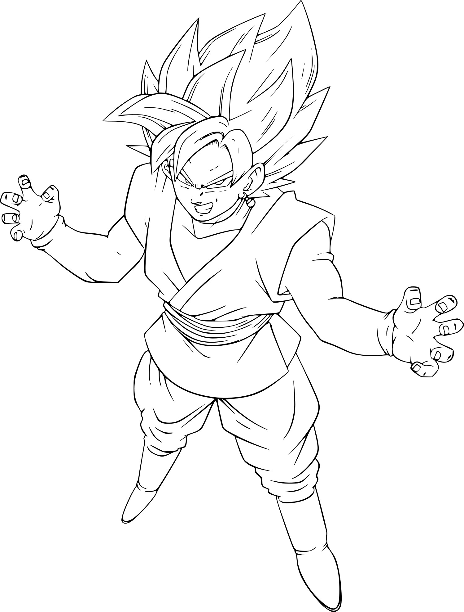 Coloriage Goku Black