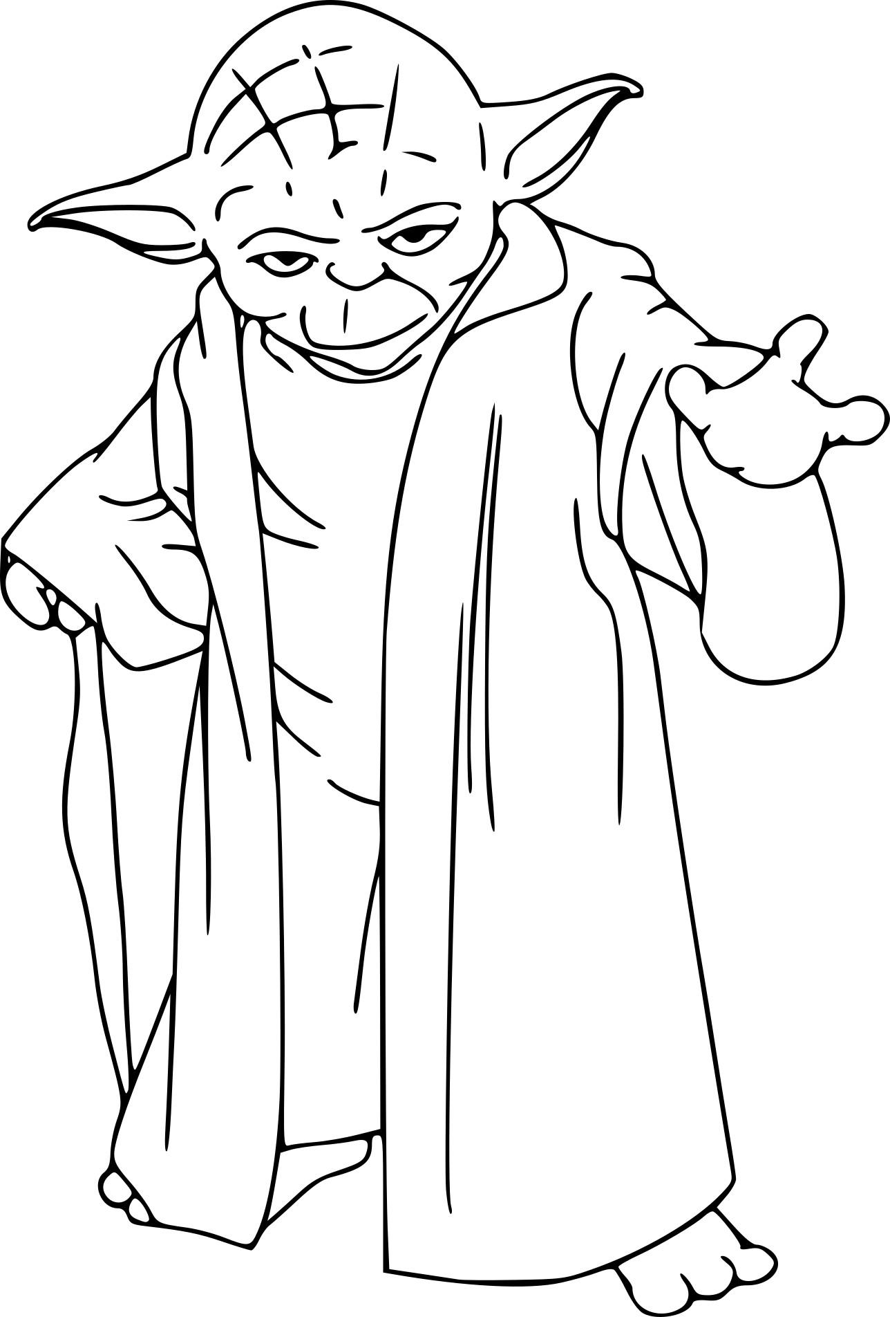 Coloriage Maitre Yoda A Imprimer