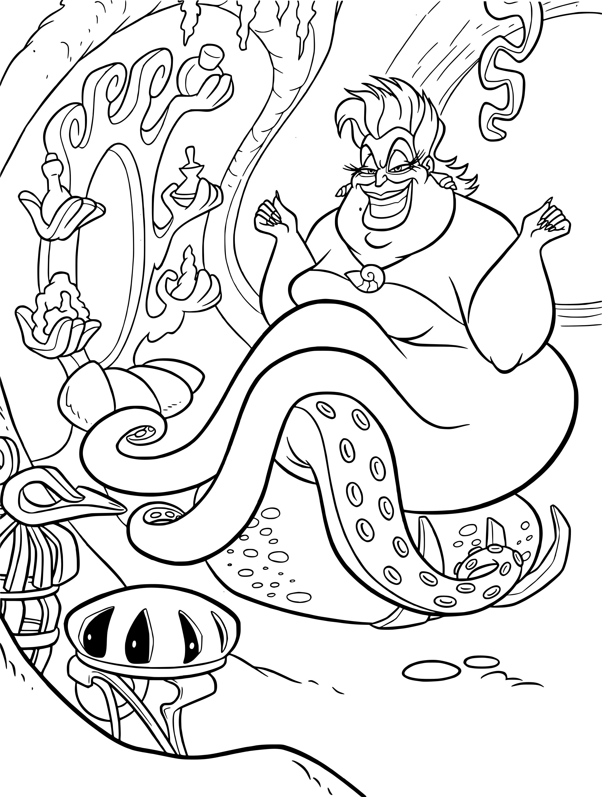 little mermaid coloring pages - HD 1858×2466