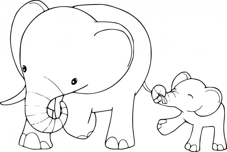 Coloriage éléphant enfants