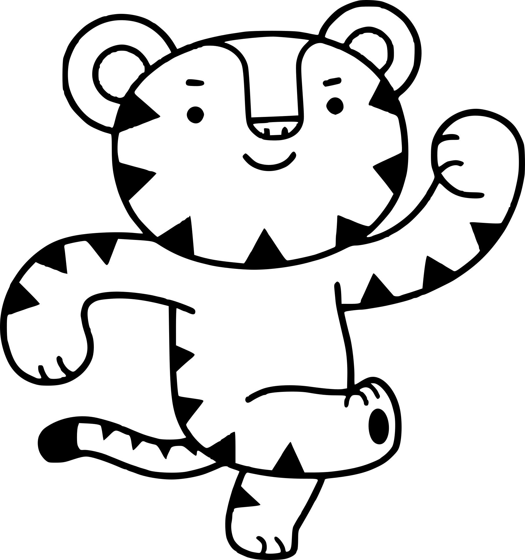 Coloriage Soohorang tigre blanc