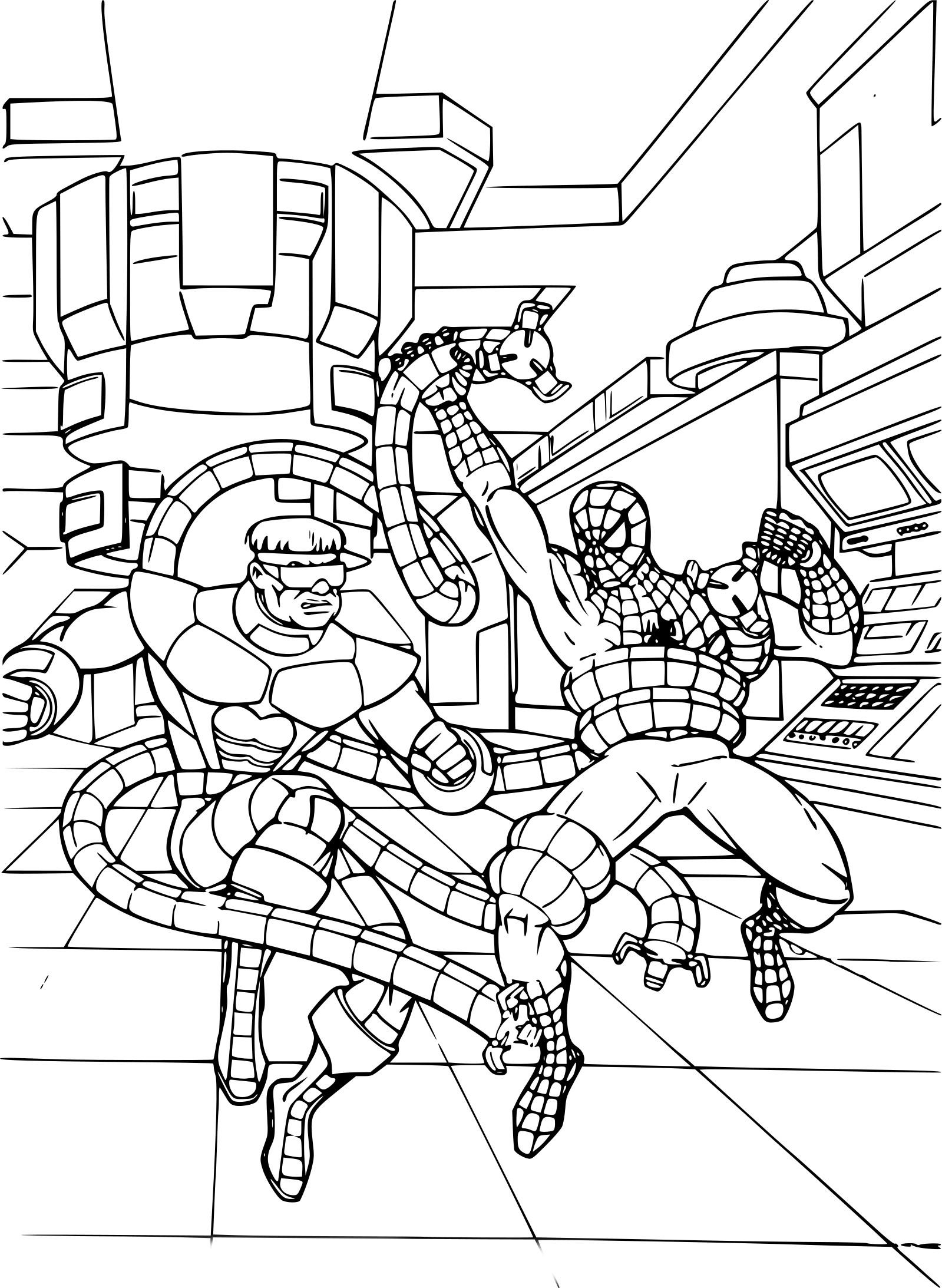 Coloriage spiderman et docteur octopus imprimer - Immagini del ragno da stampare ...
