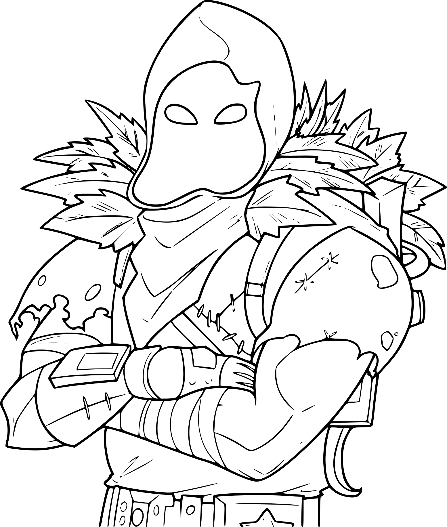 Coloriage Fortnite Raven